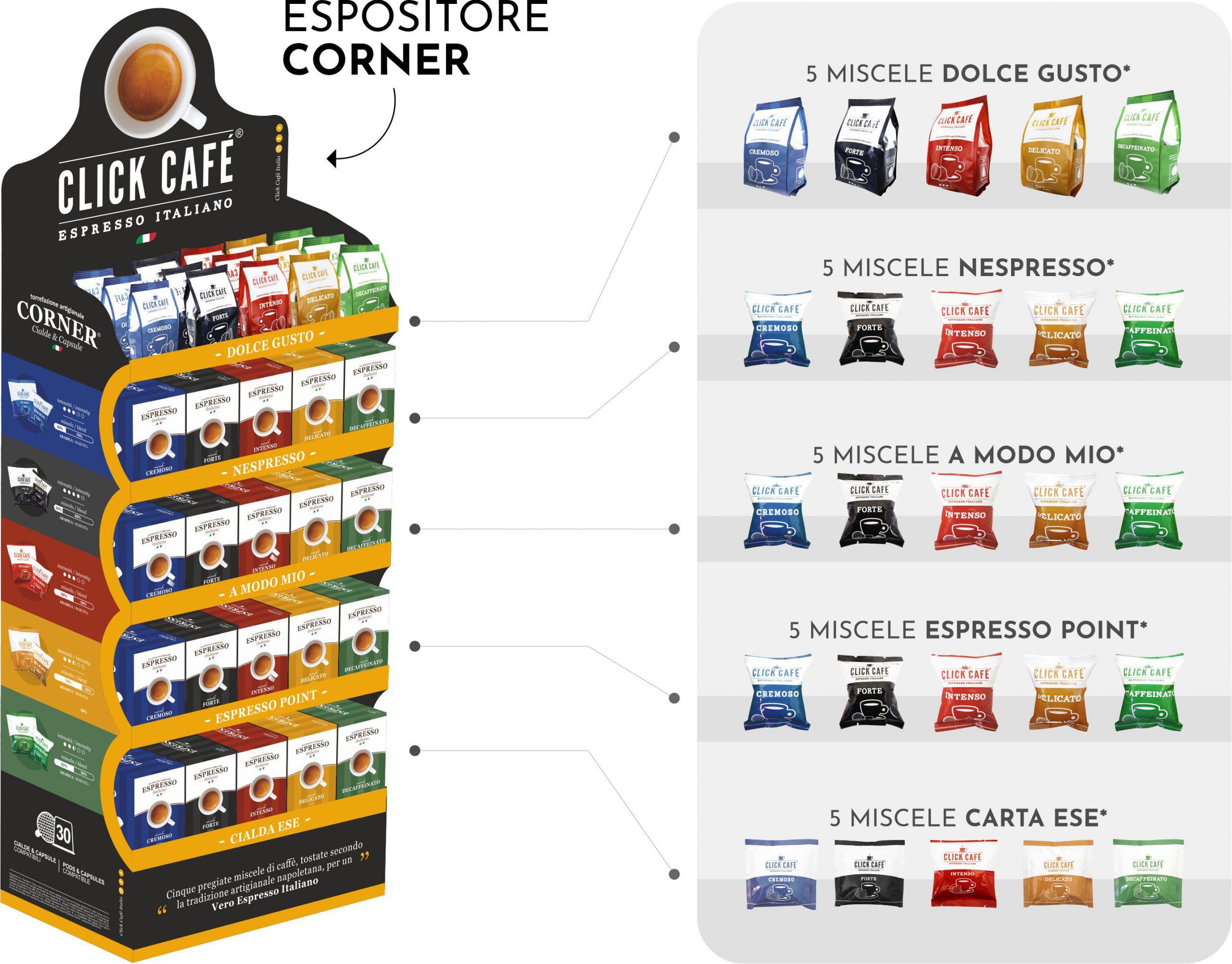 Espositore Click Cafè - Corner Cialde e Capsule